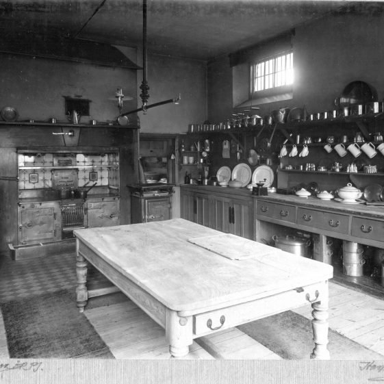 12 Welcombe - kitchen facing north-west   LHS archives - Thurston Album 11