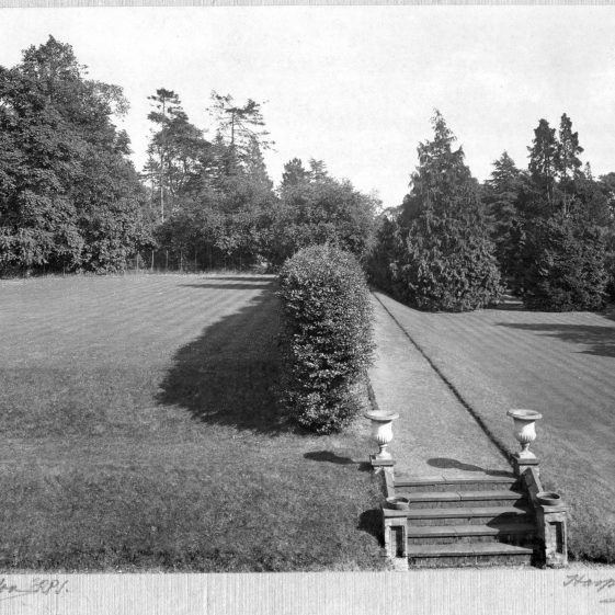 14 The two terraces viewed from the SE-facing garden front   LHS archives - Thurston Album 13