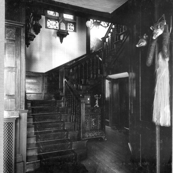 6 Welcombe - staircase from entry hall   LHS archives - Thurston Album 6