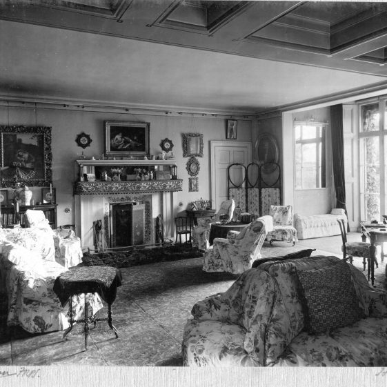 7 Welcombe - drawing room on SW corner, from western extension   LHS archives - Thurston album 7