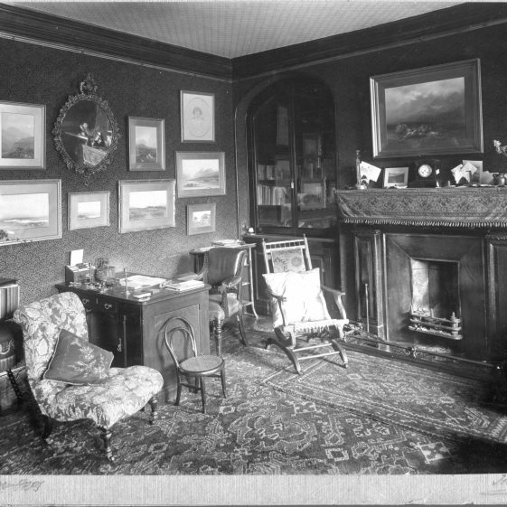 8 Welcombe - study or morning room in south wing   LHS archives - Thurston Album 8A