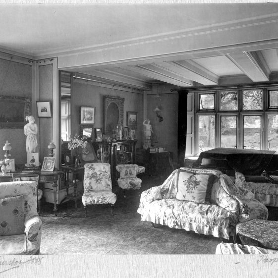 10 Welcombe - drawing room looking over the Common - extension on west front   LHS archives - Thurston Album 9
