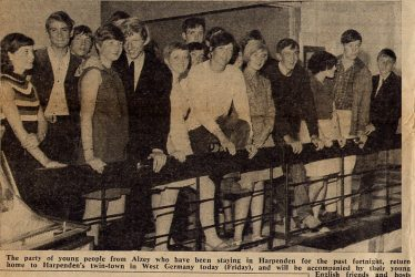 Visit of young people from Alzey, 1967 | Cllr Mrs Wyborn's scrapbook, Herts Ad 1967
