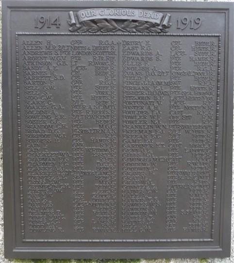 Plaque on Church Green War Memorial | G Ross, 2013