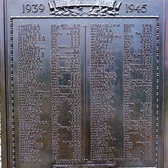 Church Green memorial - 1939-1945 | G Ross, 2013