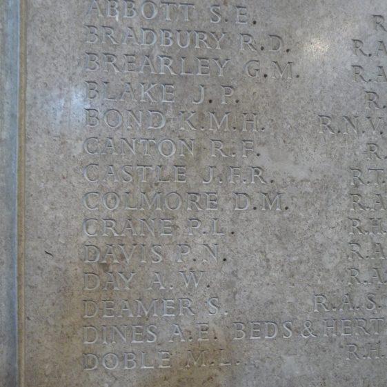 St Nicholas church - memorial to the fallen of 1939-1945 war - first column | G Ross, 2013