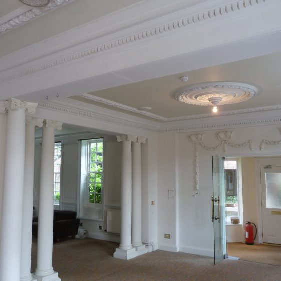 33. The entry lobby and entrance to former dining/board room   G Ross, April 2014