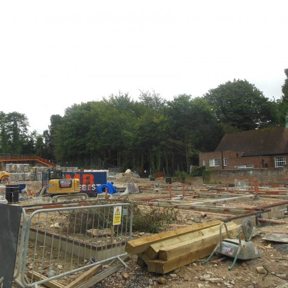 35. Work starts on the footings for the houses fronting Southdown Road and the couryard behind   R Ross, September 2017