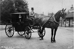 William Hogg and his horsedrawn cab